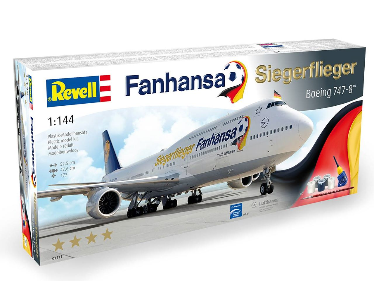 Fanhansa-Siegerflieger-Verpackung