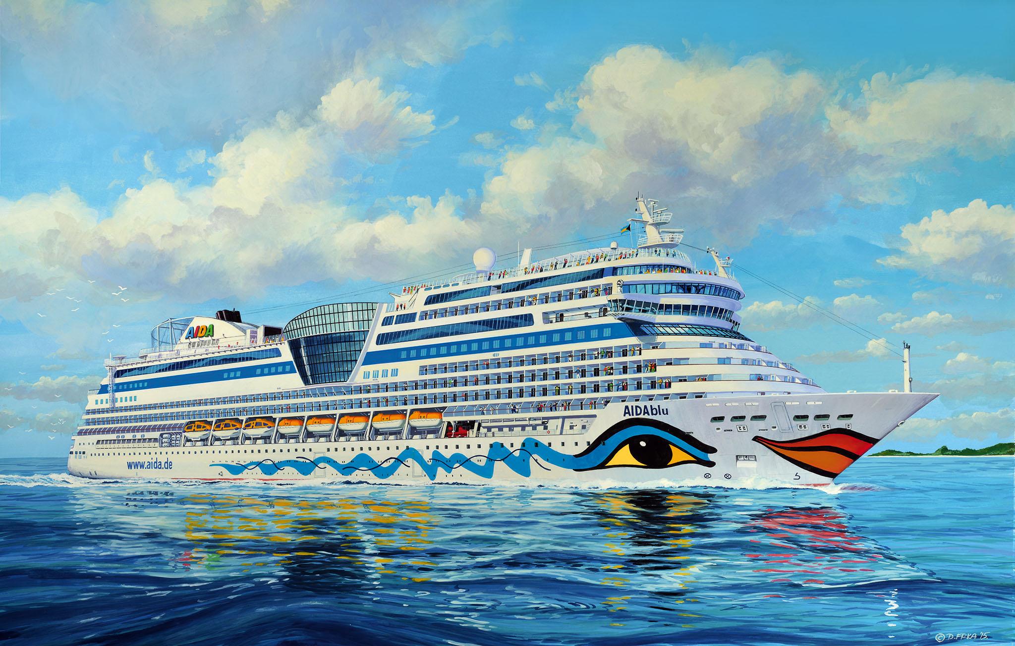AIDA Kreuzfahrtschiff Bausatz Titelbild