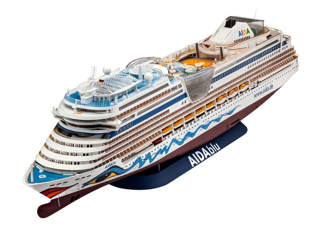 Das AIDA Kreuzfahrtschiff als fertiger Bausatz