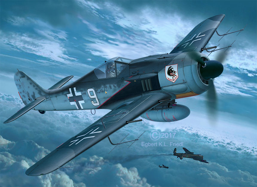 03926 Focke_Wulf_Fw190_A8_Nightfighter Drawing