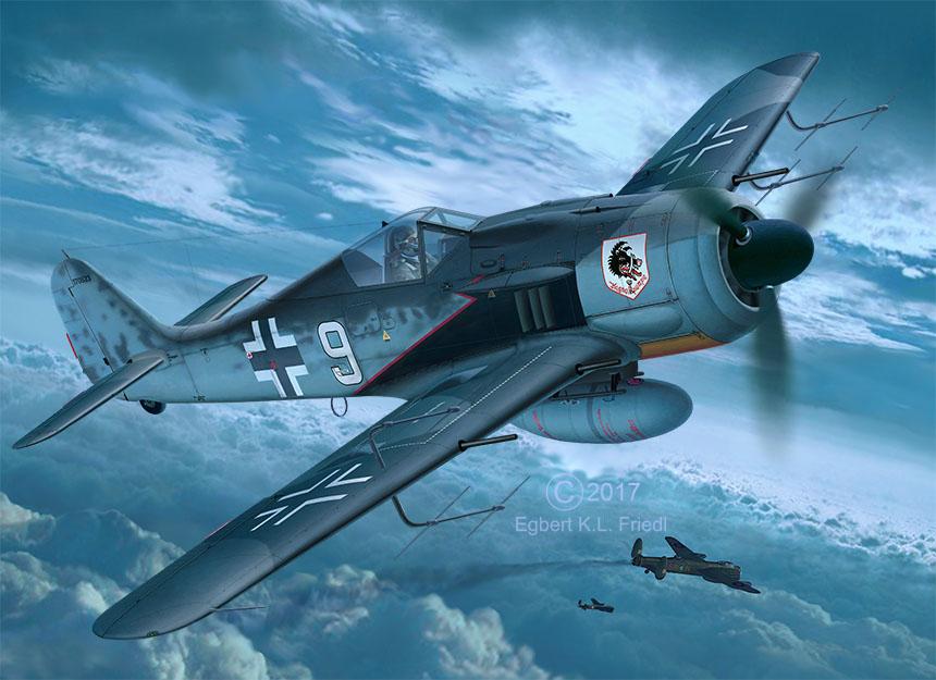 03926 Focke_Wulf_Fw190_A8_Nightfighter Drawing