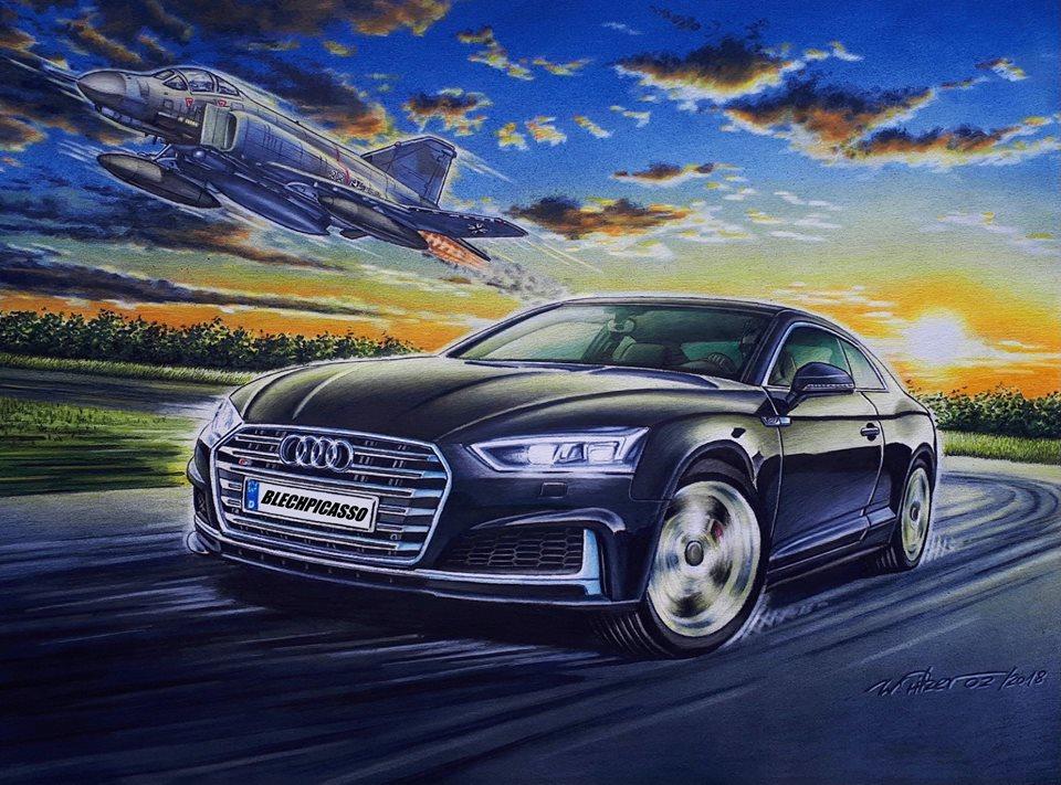 Audi S5 - Phanotm F4 Gemälde