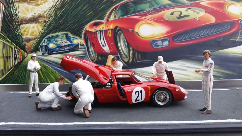 Blech-Picasso Werner Pitzer Ferrari Diorama Race Track