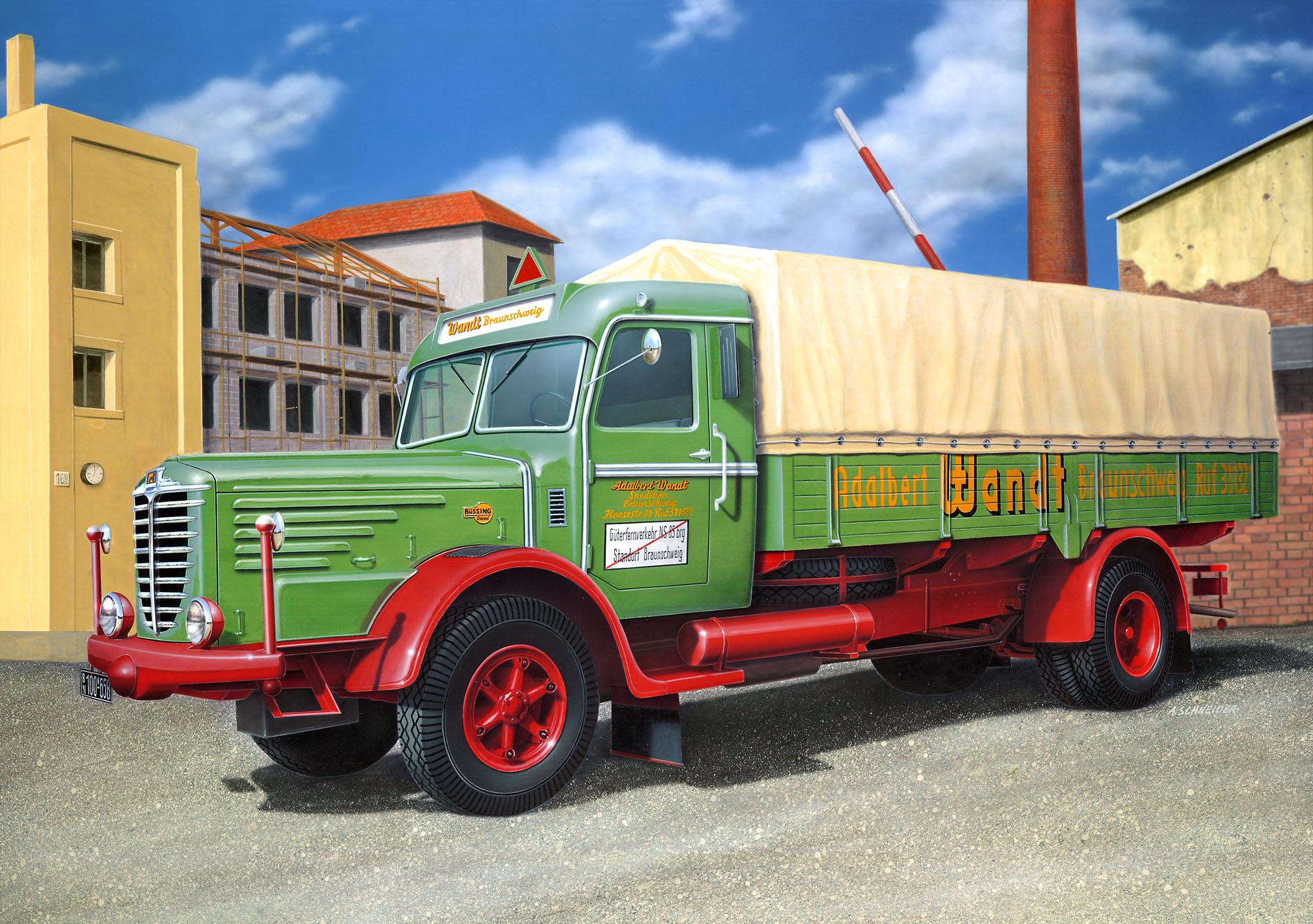 Büssing 8000 S13 LKW Modell Bausatz
